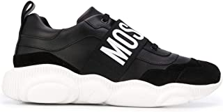 Luxury Fashion | Moschino Men MB15113G0BGA400A Black Leather Sneakers | Autumn-winter 20