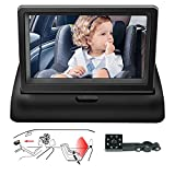 Baby Car Camera Mirror View Infant in Rear Facing/back Seat With Infrared Night Vision 360°Adjustable Wide Angle Easy to Watch Baby's Every Move