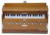 Harmonium by Maharaja Musicals, In USA, 9 Stops, 3 1/2 Octave, Double Reed, Coupler, Natural Color, Standard, Padded Bag, A440 Tuned, Blemished, Musical Instrument Indian Sangeeta (GSB-127)
