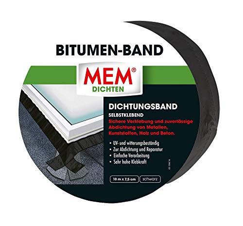 MEM Bitumen-Band schwarz 10 m x 7,5 cm