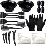Goldsmith Haarfärbe-Set, 22-teilig, Haar-Tönungsschale, Farbpinsel, Ohrenschutz, Handschuhe für...