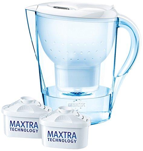 Brita Wasserfilter Marella XL, weiß, Vorteilspaket inklusive 2 Kartuschen