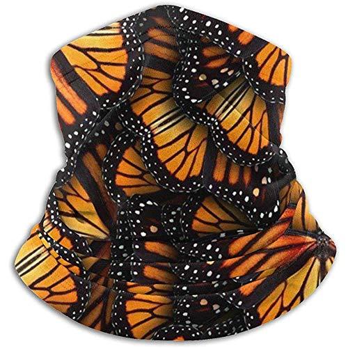 Olive Helin(a) Haufen von Orange Monarchfalter UV-Sonnenschutz Gamasche Sonnenmaske, Gesichtsschutz zum Angeln, Wandern, Kajak Maske,
