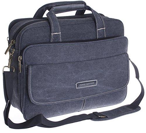 Borsa Messenger Bag Per Lavoro XXL - Portadocumenti Per PC Laptop DIN A4 - Alta Qualità - Tracolla Regolabile