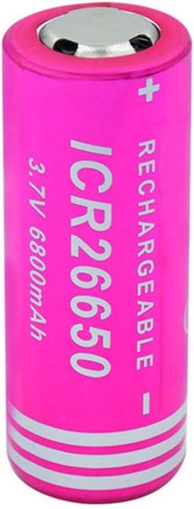 YWX 3.7V ICR 26650 6800Mah Pile 26650 Batterie Rechargeable pour Lampe De Poche LED Lampe Frontale,2pcs