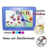 Kinder Brotdose mit Marienkäfer Motiv und Name/Lunchbox für Kinder mit Name/Marienkäfer/Farbwahl Brotbox + Schriftwahl für Name