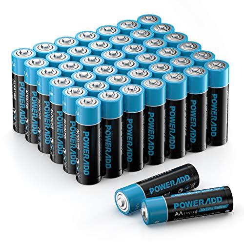 Batterien AA 44er Pack, AA Alkaline Batterien LR6 Mignon 44 Stück, LR6 AA Mignon Batterien 1,5 V Akku 10 Jahre Haltbarkeit für Fernbedienung Radio Wecker und Uhr