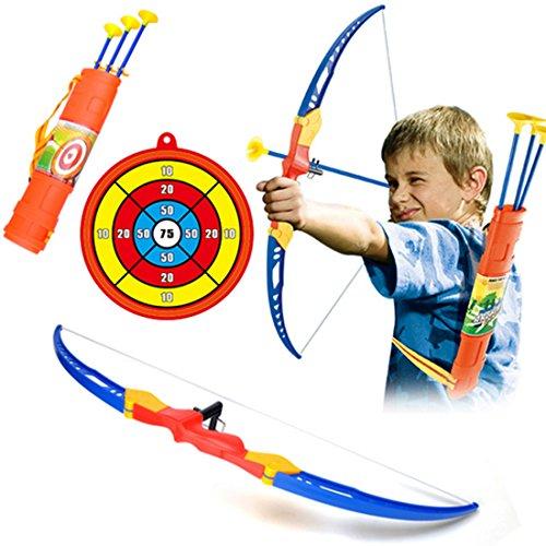 ANNA SHOP Pfeil und Bogen Kinder Set Schießen Spielzeug Schießspiele Set 3 ab 3 Jahre