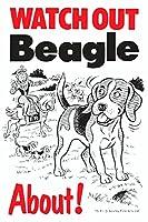 WATCH OUT Beagle アニメイラストサインボード:ビーグル イギリス製 英語看板 Made in U.K [並行輸入品]