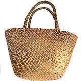 Photo Gallery sodial casual borsa di paglia borsa di totalizzatore di vimini naturale borsa intrecciata delle donne per le borse fatte a mano del rattan tessute del giardino