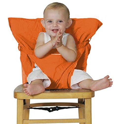 Millya Housse de chaise haute portable pour bébé Orange