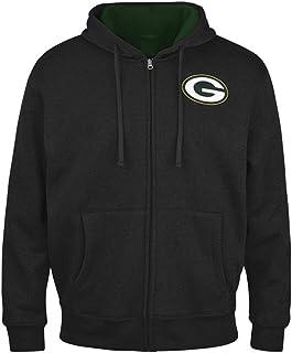 Green Bay Packers Men`s Full Zip Hooded Sherpa Lined Jacket/Sweatshirt