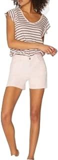 Sanctuary Midi Split Ripped Denim Shorts Pink 28