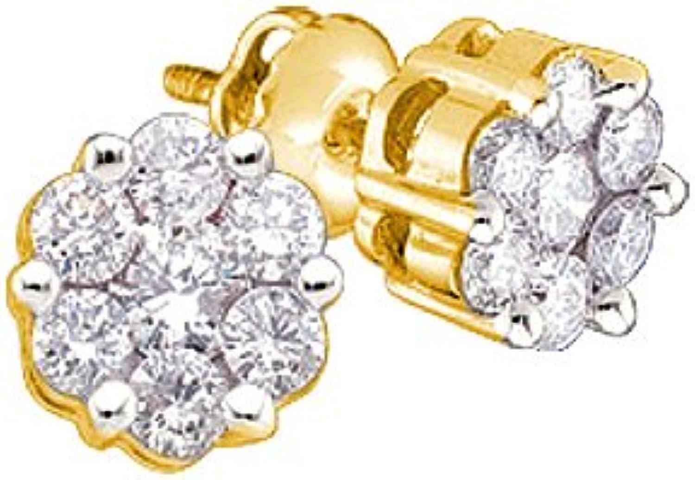 1 6 Total Carat Weight DIAMOND FLOWER EARRINGS