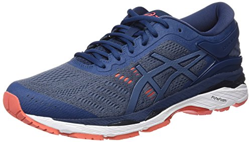 Asics Gel Kayano 24, Zapatillas de Running para Hombre, Azul (Smoke Blue/Smoke Blue/Dark Blue 5656), 43.5 EU