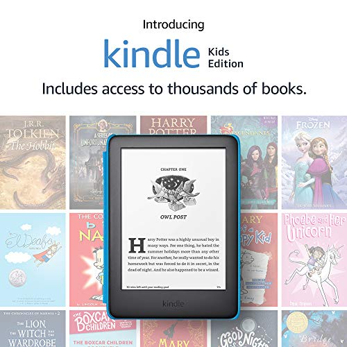 Kindle Kids Edition, a Kindle designed for kids, with parental controls - Blue Cover