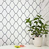 "Trellis Wallpaper Gray Trellis Removable Wall Paper Trellis Peel and Stick Wallpaper Self Adhesive Wall Covering Modern Wallpaper Decor Shelf Liner Drawer Liner Wall Decor Vinyl Film Roll 17.7""x78.7"""