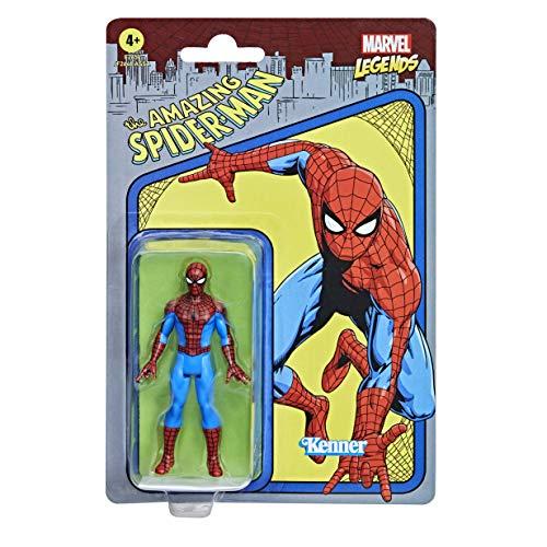 Marvel Hasbro Legends Series 9,5 cm große Retro 375 Collection Spider-Man Action-Figur