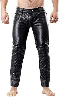 lambskin leather pants men
