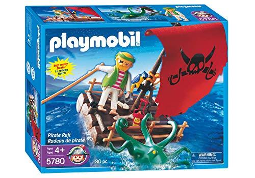 Playmobil 5780 - Schiffbrüchiger Pirat auf Floss mit Kraken