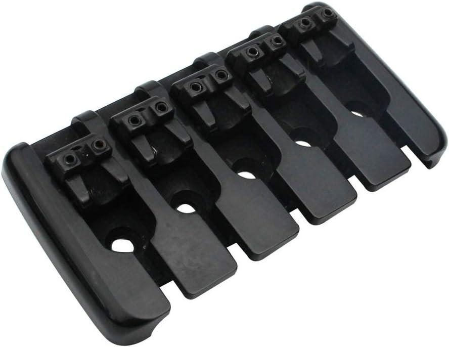 Precision Electric Instruments Zinc Saddle Chunky Bridges Tailpiece Replacement for Jazz Bass Black Guyker 5 String Bass Bridge