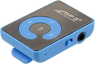 Mini Mirror Mp3 Sport Music Player With TF-Card Suppot Up To 8GB Blue