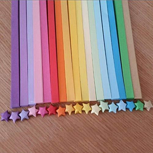 PLBB3K Papel Origami 80/90 PCS Crafts Origami Papel Papel Papel Lucky Star Rayas de Origami Familia de la Boda Decoration-90pcs Papir oflexia (Color : 80pcs)