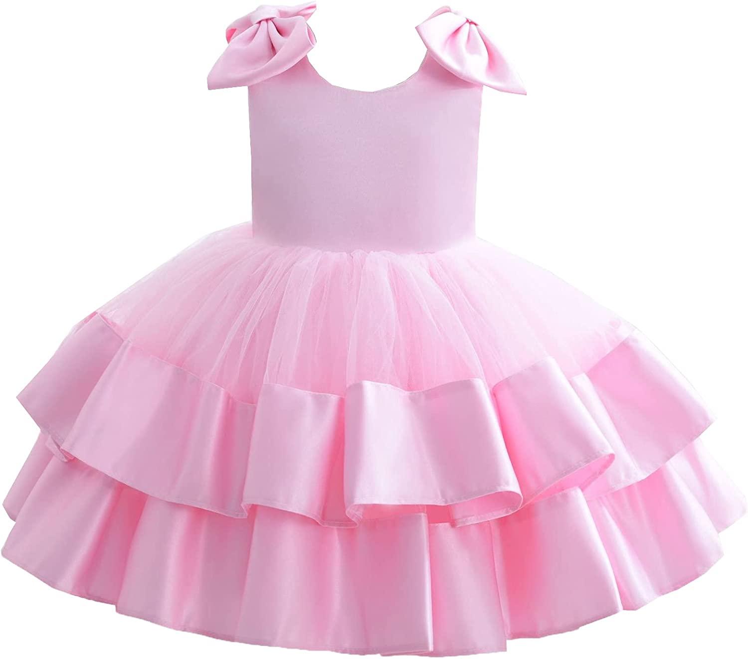 LSYXH Baby Infant Little Girls Many popular brands Clearance SALE Limited time Appliqued Flower Bi Big Bow