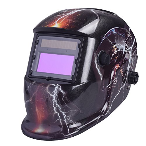Casco de soldadura con oscurecimiento automático y energía solar de Nuzamas, protección facial para cortes de plasma de molienda de arco Tig Mig, rango de sombra ajustable DIN4 / 9-13 UV / IV, DIN16