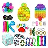 フィジットパック安い、フィジットのおもちゃセット、ストレスリリーフのフィジットのおもちゃ大理石のメッシュポップ不安チューブfigetgetのおもちゃの男性のための玩具 (Color : Fidget Pack-9)
