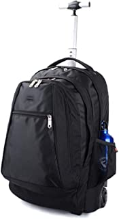 Wheeled Business Travel Bag Trolley Bag Cabin Travel Backpack Luggage Trolley Bag with Pulley Antifouling Cover, Hidden Sh...