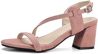 BalaMasa Womens ASL06520 Pu Block Heels