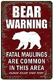 Funny HAHA USA Bear Warning Sign