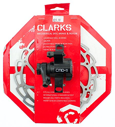 Clark's CMD-11 Mechanical Disc Brake - Front or Rear, 160mm, Black