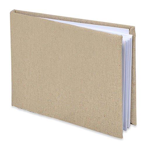 Club Green Linen Plain Libro degli Ospiti, Naturale, 220x 170mm