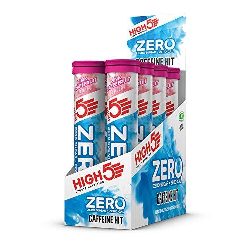 HIGH5 ZERO Caffeine Hit Electrolyte Hydration Tablets Added Vitamin C | (Pink Grapefruit, 8 x 20 Tabs)