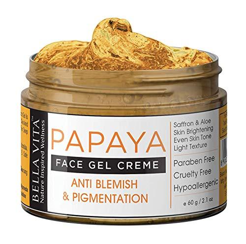 Glamorous Hub Bella Vita Crema Facial Orgánica Antimanchas y Pigmentación con Papaya y Azafrán (50g)