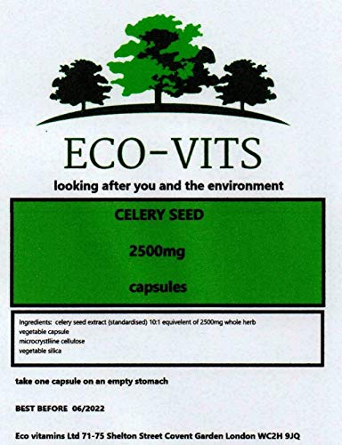 ECO-VITS Celery Seed Extract (2500MG) 30 CAPS