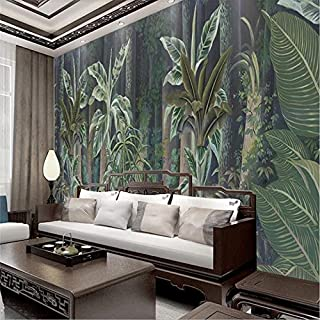 Custom Wallpaper European-Style Hand-Painted Medieval Rainforest Background Wall Decoration Silk Waterproof material-400x300CM
