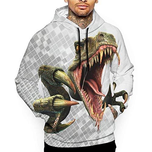 XCNGG Herren Hoodie Herren Pullover Ark Survival Evolved Men's Hoodie Sweatshirt White
