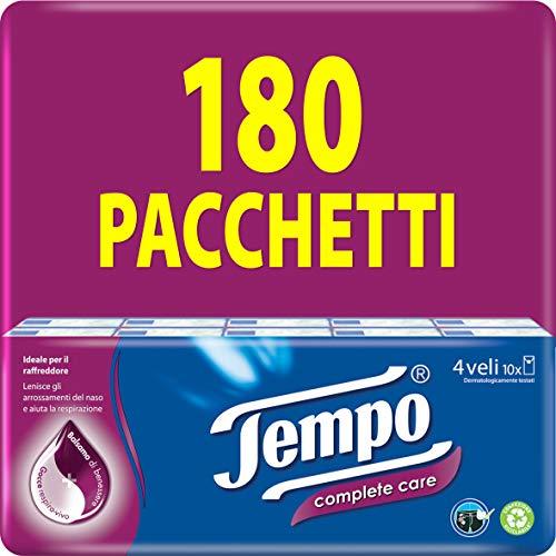 Tempo Fazzoletti Tascabili Complete Care, 180 Pacchetti Da 9 Fazzoletti, 5020 g