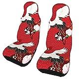 Funda de asiento para coche, grúas voladoras, funda para silla de coche, protector universal para asiento delantero de coche, 2 piezas