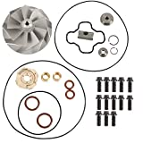 Turbo Compressor Wheel & Upgraded Rebuild Kit Compatible with 1994-2003 Ford Powerstroke 7.3L Turbo Diesel Replacement parts number 170293,F81Z-6K682-BARM, 446579-0001, 817-1004-002F, 813-1001-001