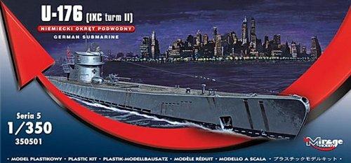 Mirage Hobby 350501, 1: 350 échelle,de type U-176 Type II ESI U-Boat, kit de modèle en plastique