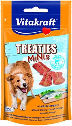 Vitakraft Treaties Minis Salmón y Omega 3, 8 x 48 g