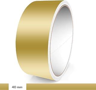 Motoking Zierstreifen, Gold Matt, 40 mm Breite, 10 m Länge, Aufkleber Folie Auto Boot Motorrad Wohnmobil Wohnwagen & mehr