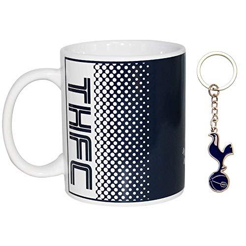 THFC Tottenham Hotspur - Juego de taza y llavero de cerámica