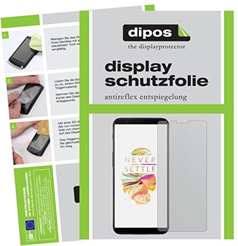 dipos I 6X Schutzfolie matt kompatibel mit OnePlus 5T Folie Bildschirmschutzfolie