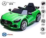 BC BABY COCHES Coche eléctrico para niños Mercedes GT-R con Ruedas Caucho y Mando Control Remoto - Batería 12v (Verde)