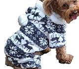 QIYUN.Z Casual Vier Beine Schwarz Weißem Samt Schnee Rehe Weihnachten Hoodie Hund Pullover Winter Warme Jacke Haustier Hunde Bekleidung & Zubehör Shirts Sweater Hoodies S M L Xl Xxl